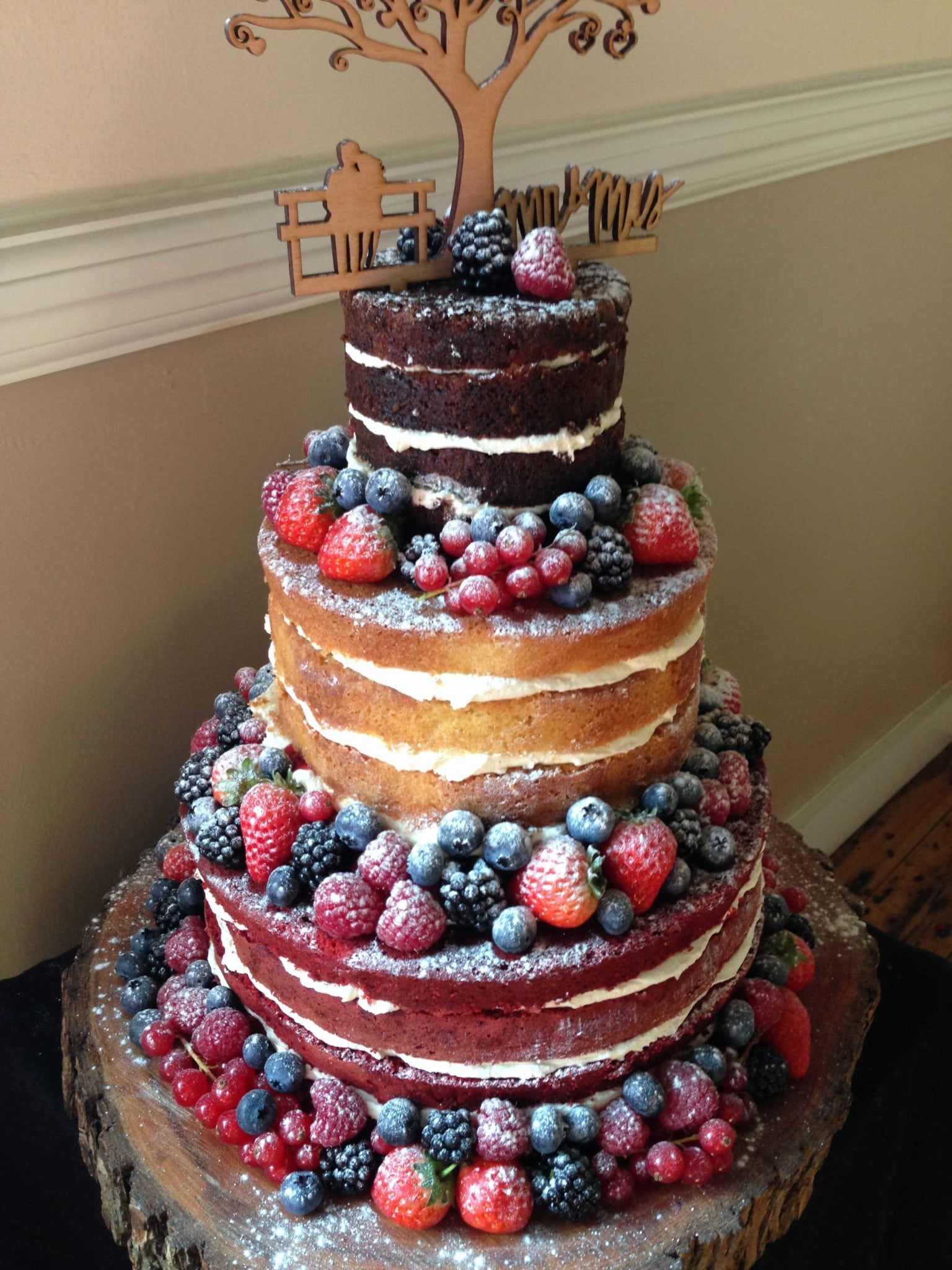 Naked Wedding Cake Rochford – Stambridge Memorial Hall, Saturday 19th September 2015