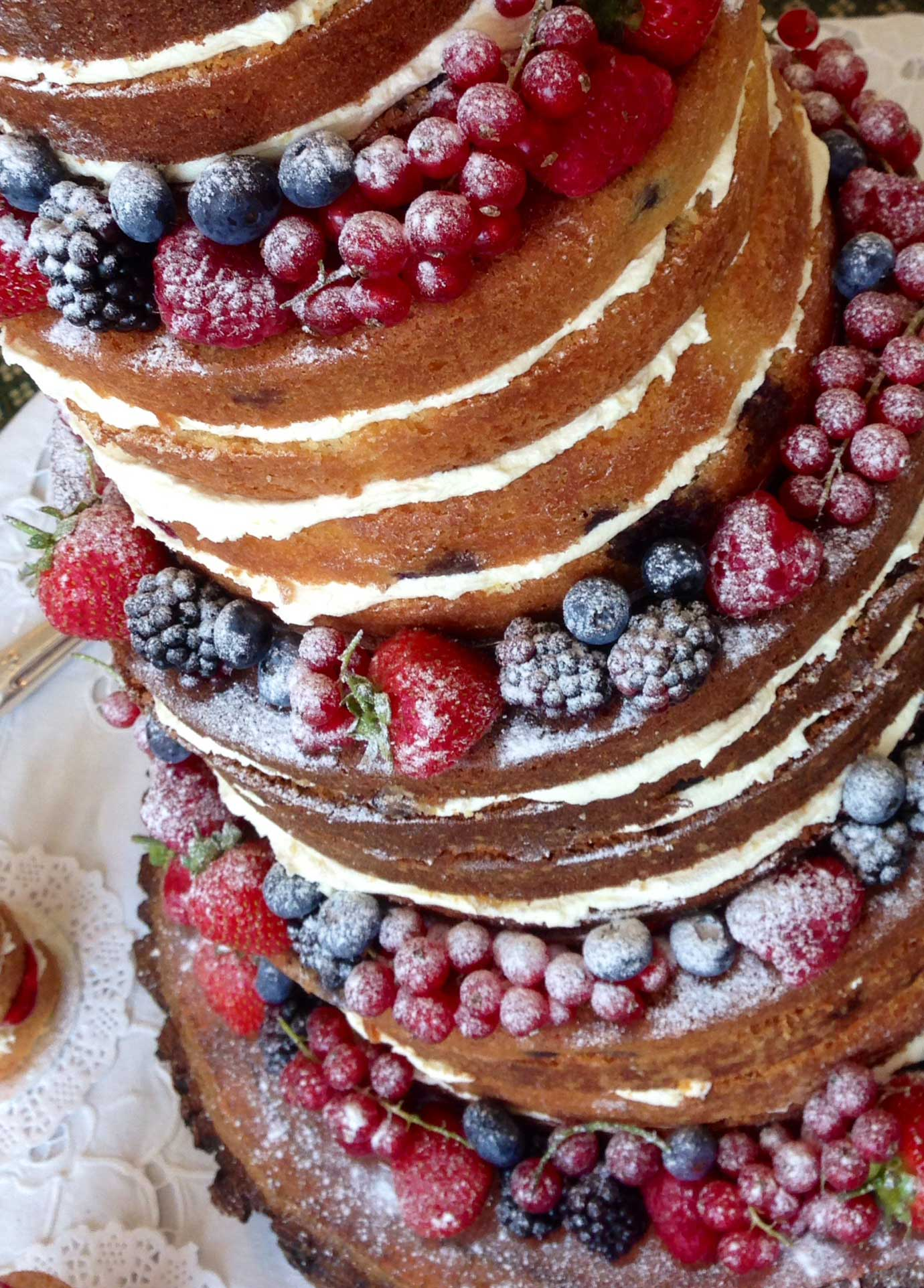 Naked Wedding Cake at The Lawn, Rochford, Sunday 30th August 2015