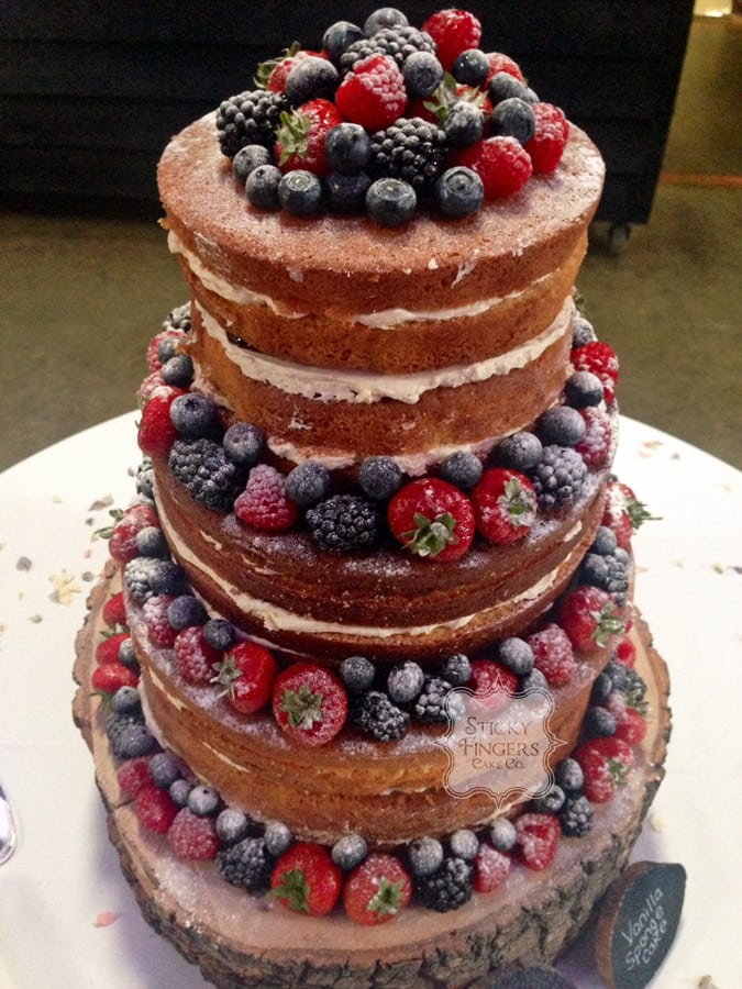 Naked Wedding Cake Sudbury, Suffolk – Alpheton Hall Barns, 5th September 2015
