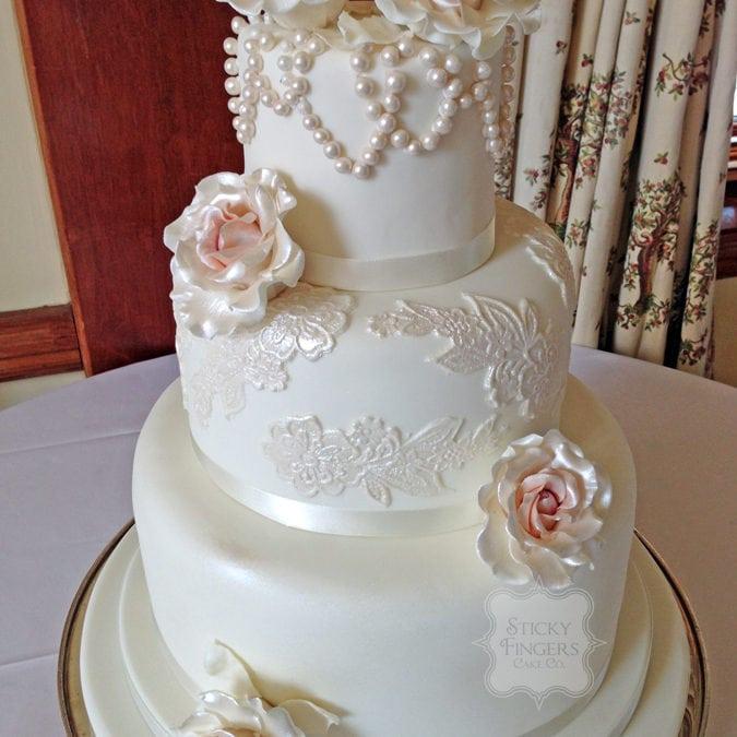 Wedding Cake Billericay – Stock Brook Manor 28th June 2014