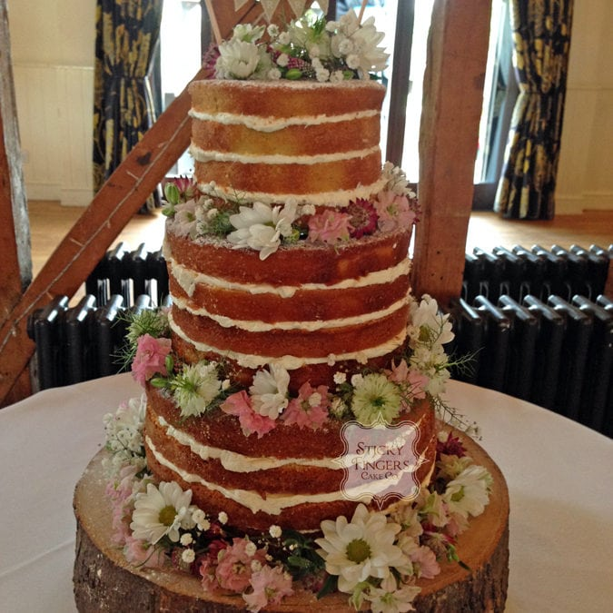 Naked Wedding Cake Chelmsford – Channels Golf and Country Club, 21st August 2015