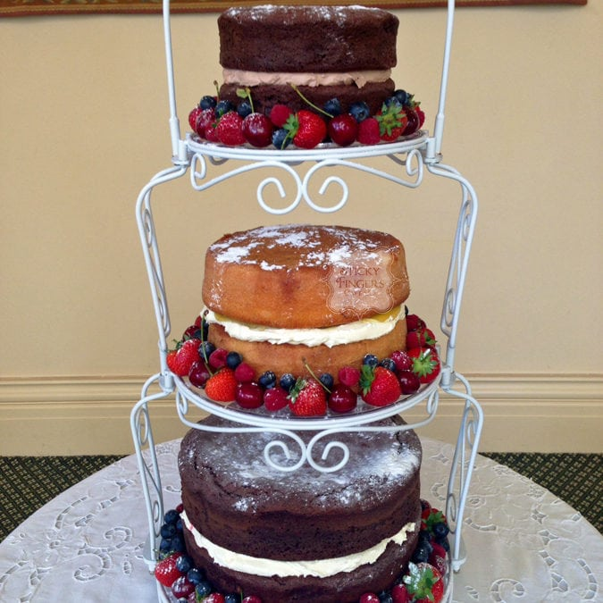 Naked Wedding Cake Rochford – The Lawn, 21st June 2015