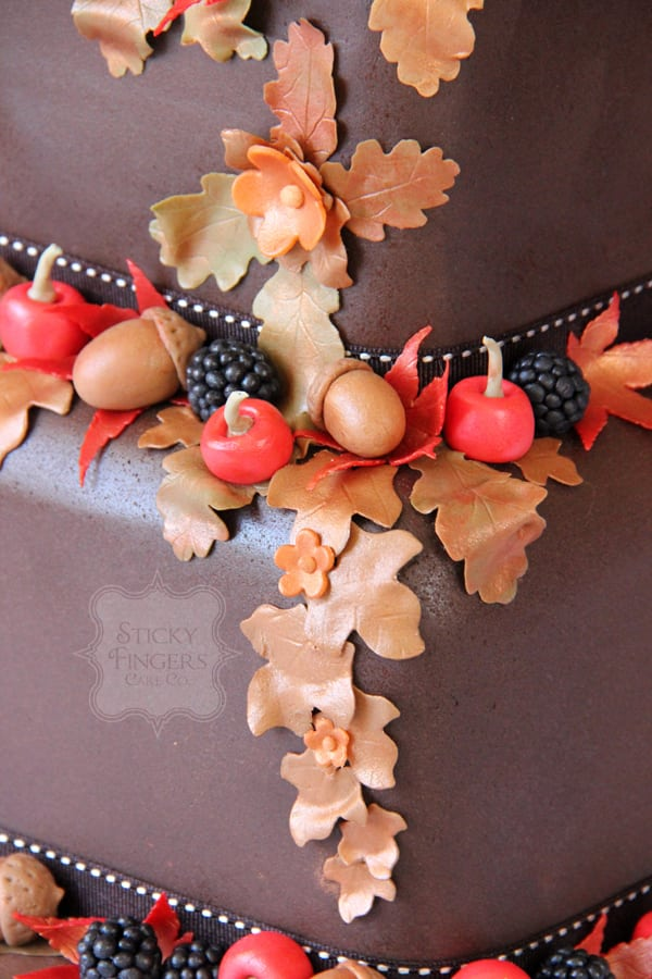 Wedding Cake Sugar Detail - Frances