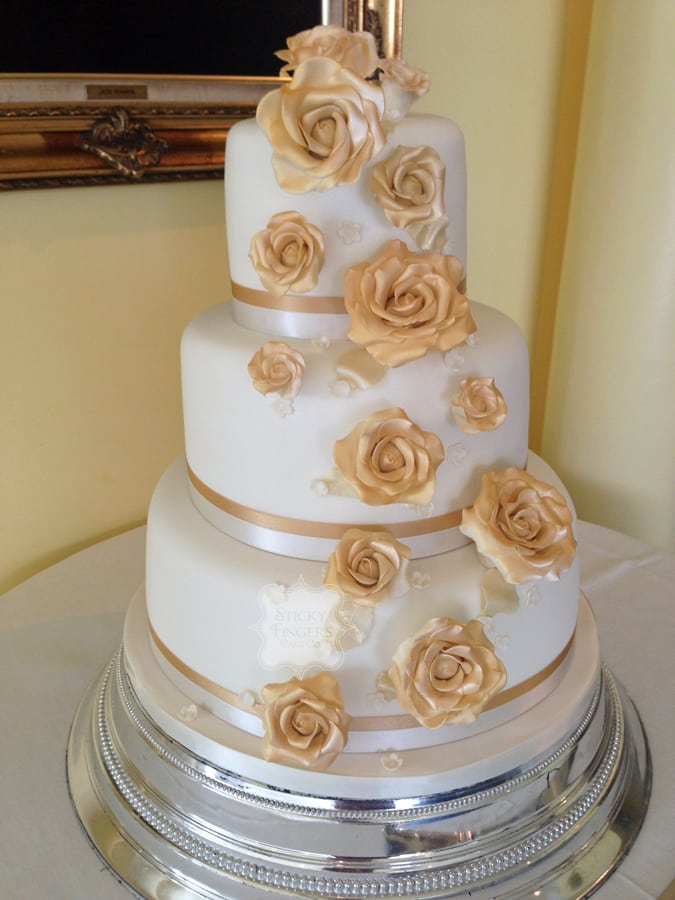 Wedding Cake Brentwood – Friern Manor 28th August 2014