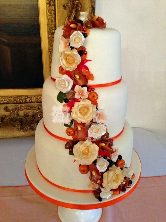 Wedding Cake Brentwood – Ingatestone Hall, 25th October 2014
