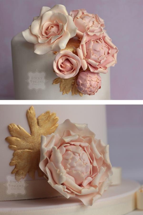 Wedding Cake - Laura Sugar Flowers Detail