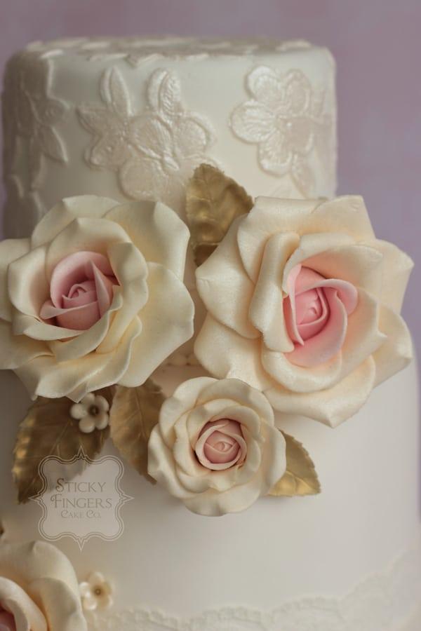 Wedding Cake Sugar Flowers - Lois