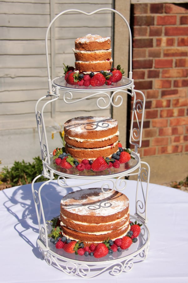 3 tier wedding cake portions the peg sticky fingers cake co 10292