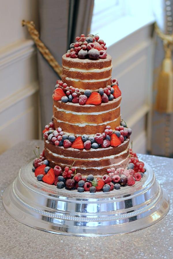 Naked Wedding Cake Essex – Orsett Hall, Orsett. Thursday 4th August 2016.