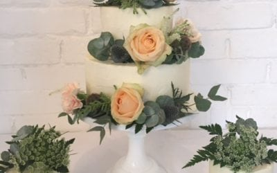 Buttercream Wedding Cake Essex at The Old Parish Rooms, Rayleigh.