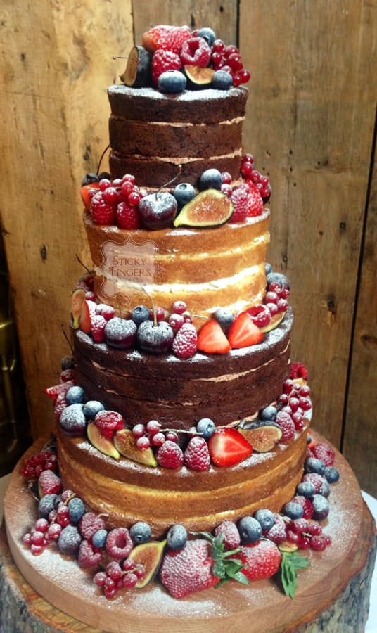 Naked Wedding Cake Ongar – Blake Hall, 27th March 2016