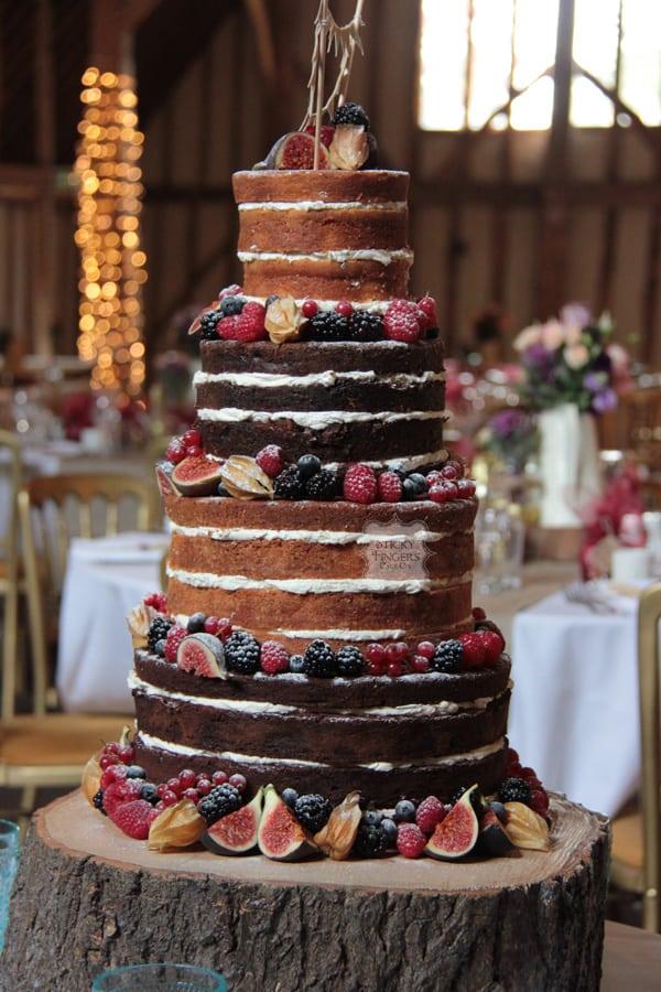 Naked Wedding Cake Ongar – Blake Hall, 10th October 2015