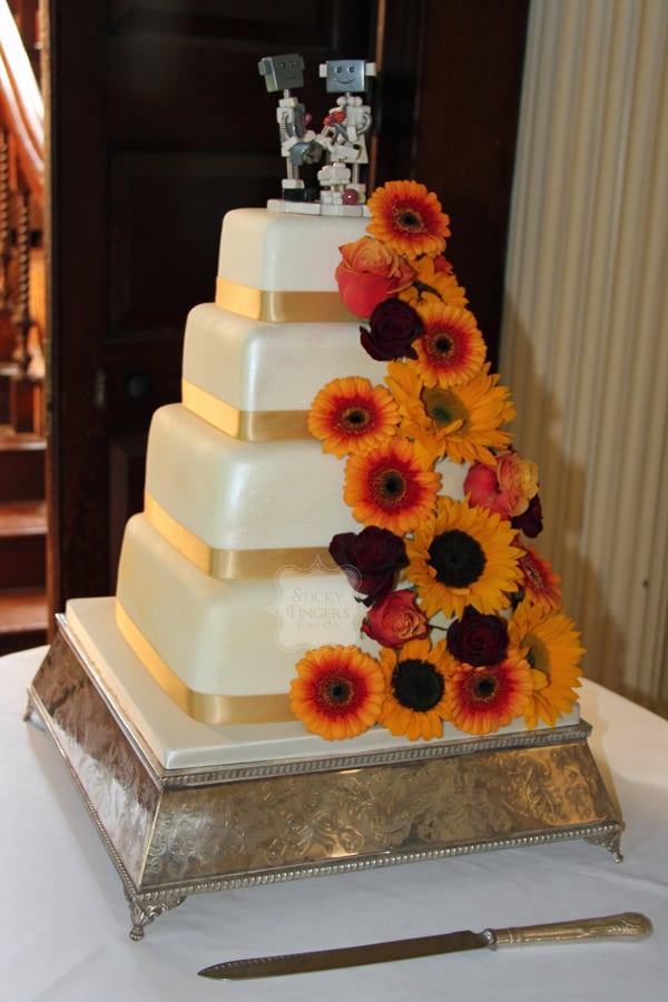 Wedding Cake Suffolk Hintlesham Hall Ipswich 11th October 2014