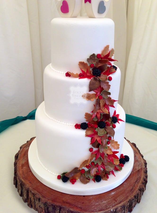 Wedding Cake Chelmsford – Newland Hall, 20th November 2015
