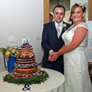 Naked Wedding Cake Essex Houchins Farm