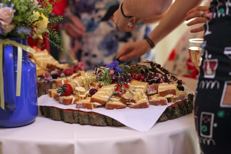 Naked Wedding Cake Essex Houchins Farm