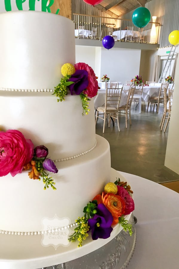3 Tier Iced Wedding Cake, Coggeshall, Essex – Houchins Farm, 30th April 2017