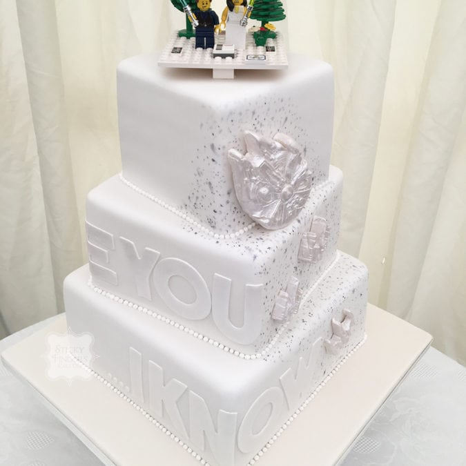 Star Wars Inspired Wedding cake, Rochford, Essex – Sutton Hall, 3rd June 2017