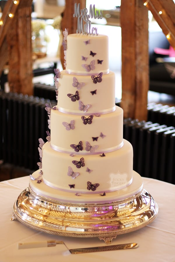 A Large Wedding Cake On Not So Big Budget