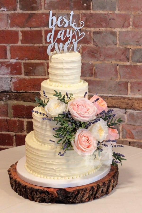 4 Tier Buttercream Wedding Cake, Epping, Essex – Gaynes Park, 20th August 2017