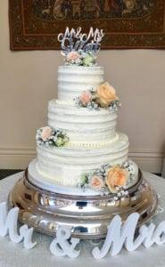 4 Tier Semi Naked Wedding Cake, Coggeshall, Essex