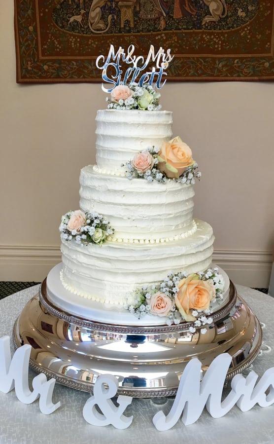 3 Tier Buttercream Wedding Cake, Rochford, Essex – The Lawn, 1st September 2017