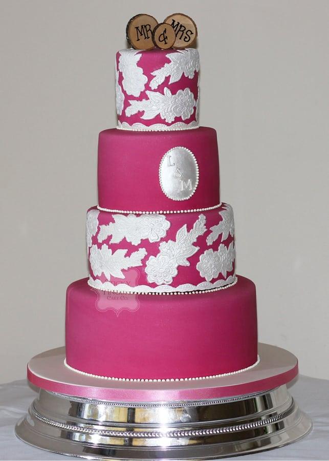 4 Tier Wedding Cake, Rochford, Essex – The Rochford Hotel, 17th September 2017