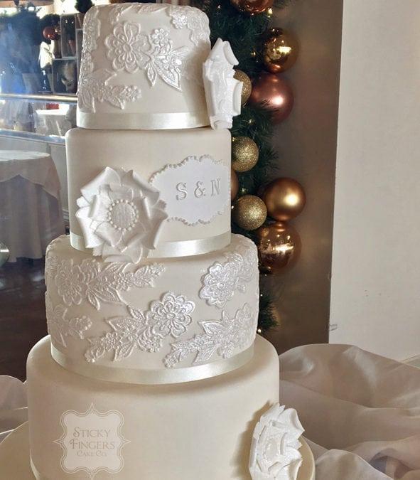 4 Tier Wedding Cake, Southend On Sea U2013 Roslin Beach Hotel, 28th December