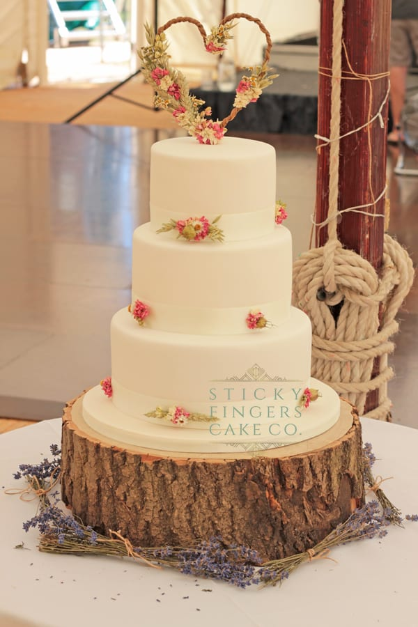 3 Tier Iced Wedding Cake, Chelmsford, 30th June 2018