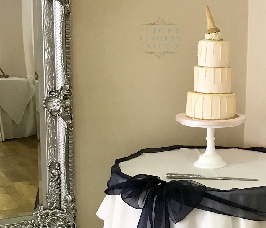 3 Tier Buttercream Drip Wedding Cake, Rochford Hotel, 21st September 2018