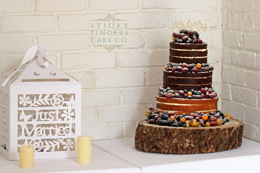 3 Tier Naked Wedding Cake, The Old Parish Rooms, 13th October 2018