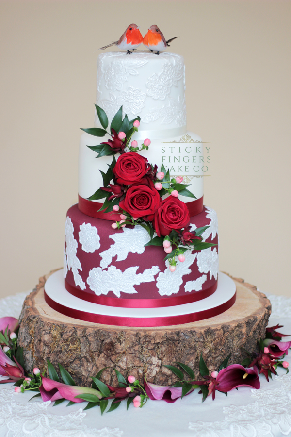 3 Tier Wedding Cake – The Lawn, Rochford, 27th April 2019