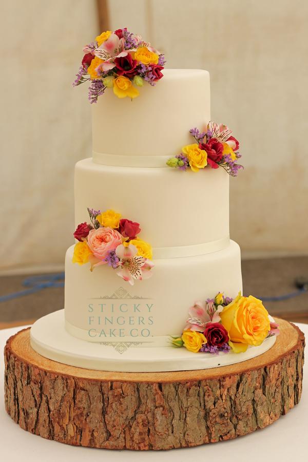 3 Tier Buttercream Wedding Cake, Rochford, Essex - The