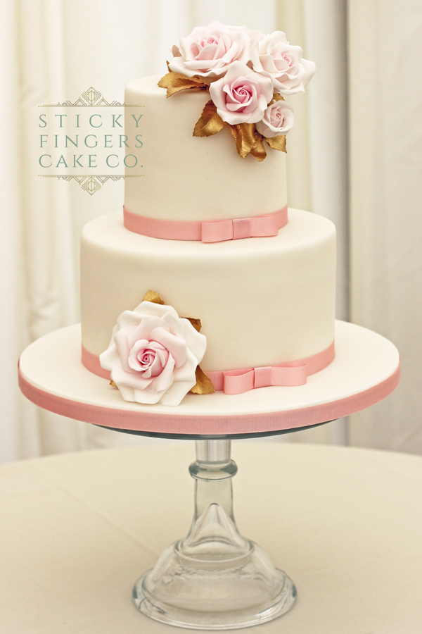 2 Tier Wedding Cake, Chelmsford – Newland Hall, 1st July 2019