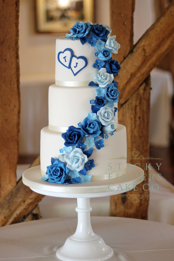 3 Tier wedding cake, Billericay – Crondon park, 14th July 2019