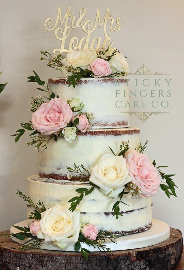 3 Tier Iced Wedding Cake, Rochford, 11th August 2018