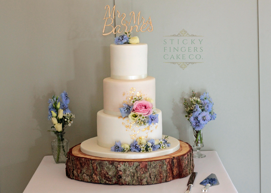3 Tier Iced wedding Cake, Rochford – Apton Hall, 8th August 2019