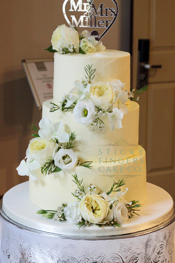3 Tier Buttercream Wedding Cake, Rochford – The Rochford Hotel, 30th August 2019