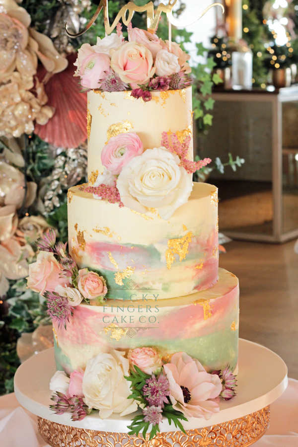 3 Tier Buttercream Wedding Cake, Southend – Roslin Beach Hotel, 23rd December 2019